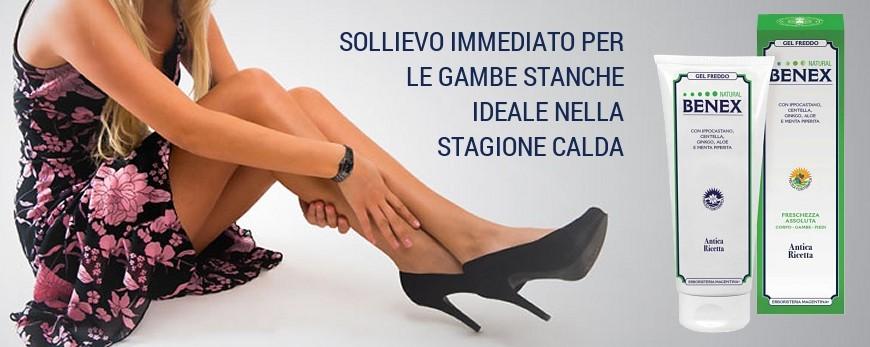 SOLLIEVO IMMEDIATO PER LE GAMBE STANCHE. IDEALE NELLA STAGIONE CALDA.