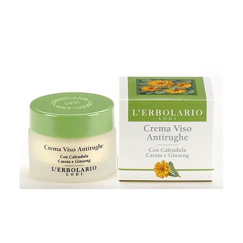 Erbolario - Crema Viso Antirughe con Calendula, Carota e Ginseng (ml.30)
