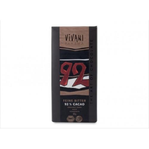 Vivani - Cioccolato Fondente 92% (gr.80)
