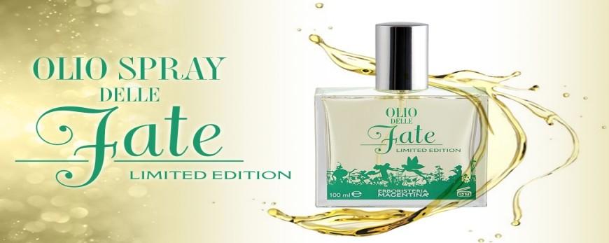 Olio spray secco, multifunzione e ideale per viso corpo e capelli.