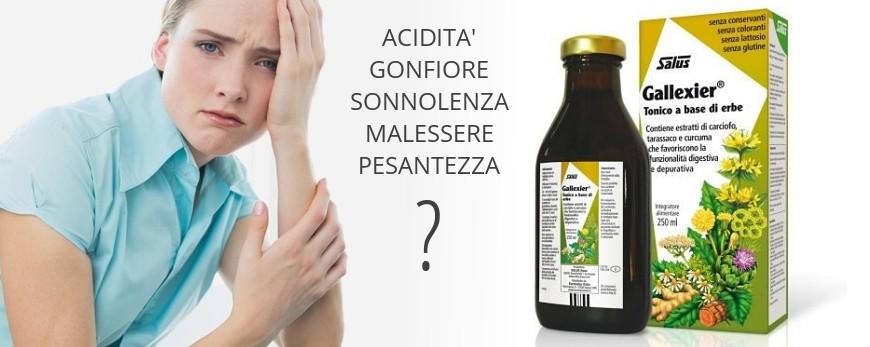 Una cattiva funzionalità gastrica e del fegato può provocare acidità, sonnolenza, malessere, senso di gonfiore e pesantezza. Gallexier è un tonico gradevolmente amaro dalla composizione esclusiva.