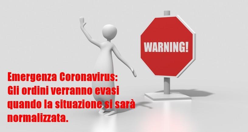 Emergenza Coronavirus: spedizioni differite
